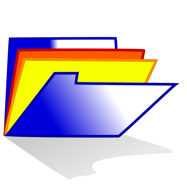 Blue Folder Icon PNG Clip art