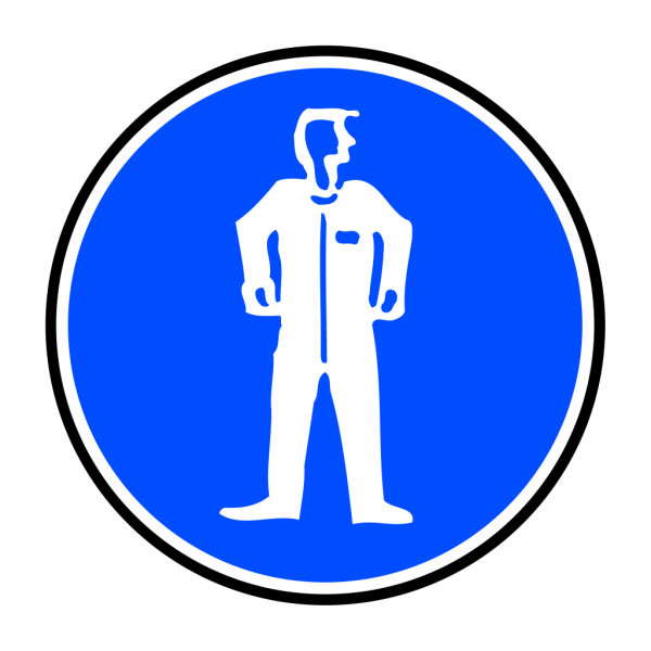 Mandatory Bodily Protection Blue Sign Sticker PNG Clip art