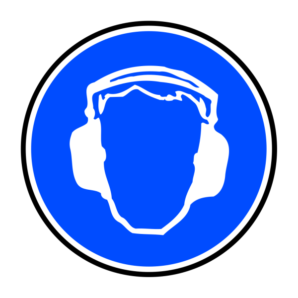 Mandatory Ear Protection PNG Clip art