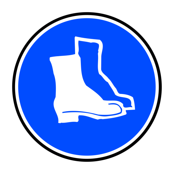 Mandatory Feet Protection Hard Boots PNG Clip art