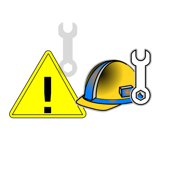 Mantatory Hard Hat Over Head PNG Clip art