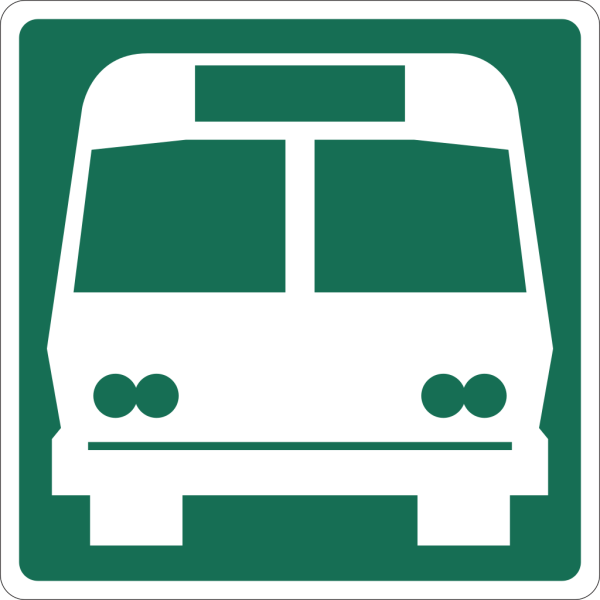 Electric Metro Bus Road Sign Station PNG Clip art