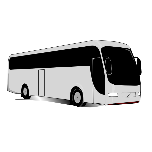 Blue Travel Bus PNG images