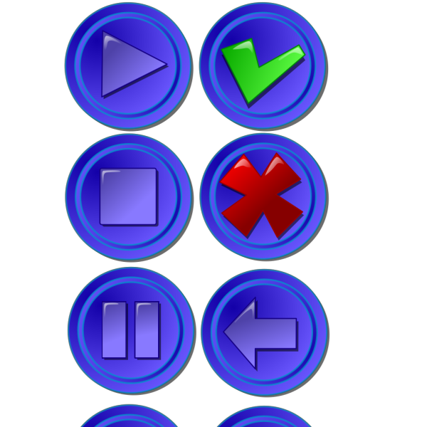 Collection Of Buttons Gui PNG Clip art