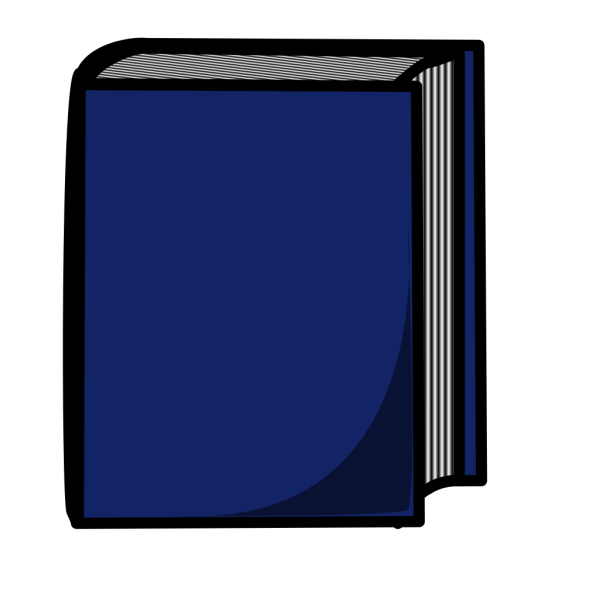 Blue Harcover Book PNG Clip art