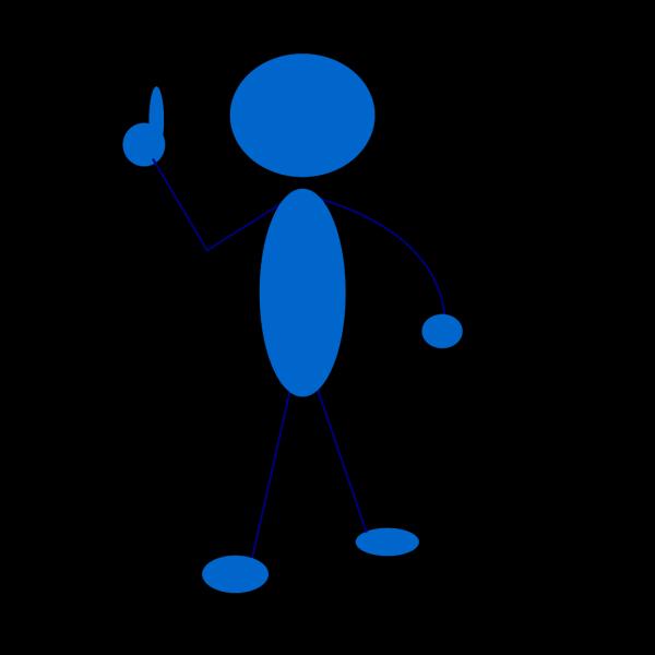 Blue Man PNG Clip art