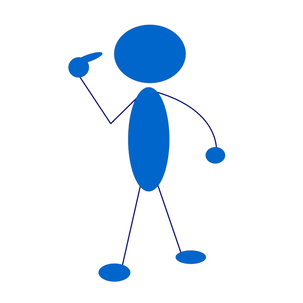 Blue Man PNG icon
