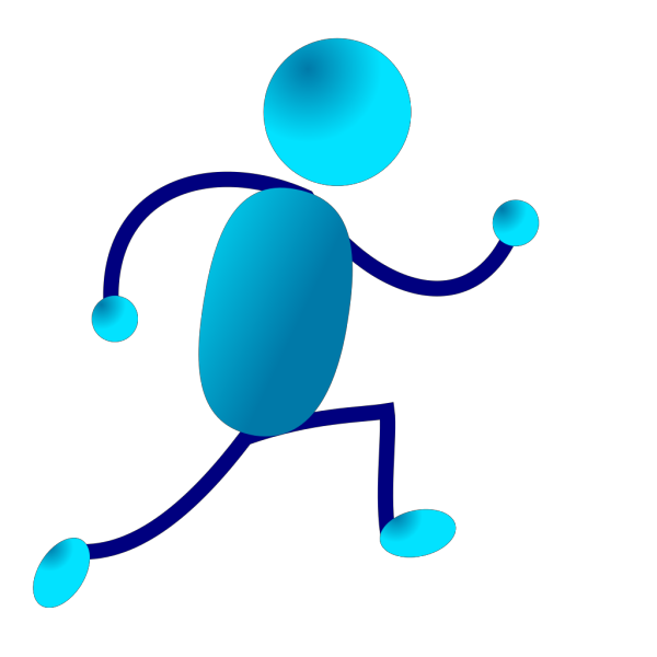 Running Stick Man PNG Clip art