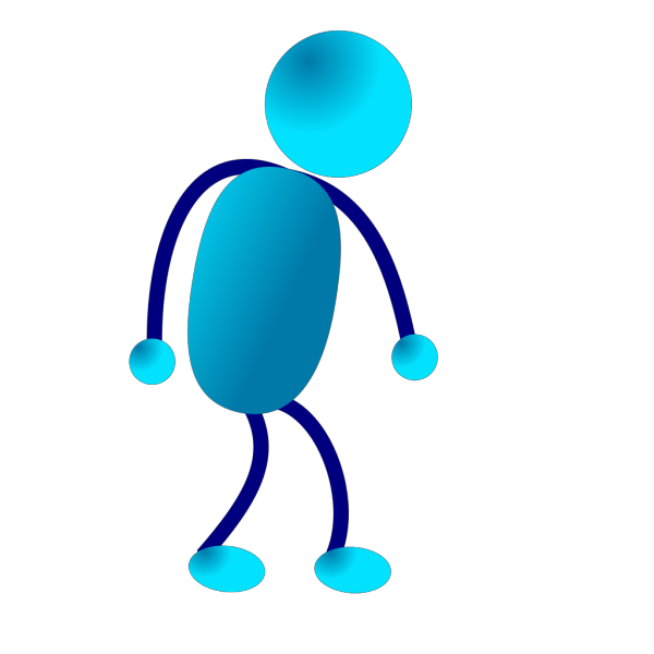 Stick Man Sad Walking PNG clipart