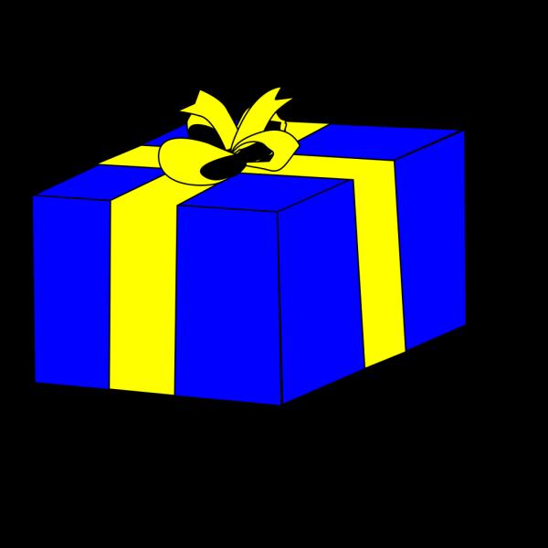 Blue Present PNG images