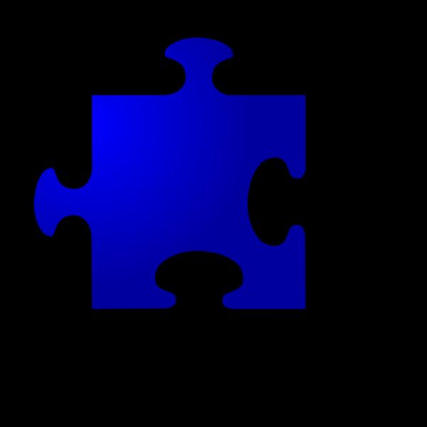 Jigsaw Blue Piece PNG Clip art