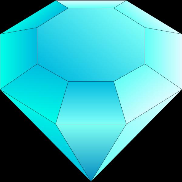 Blue Cut Gemstone (saphire) PNG Clip art
