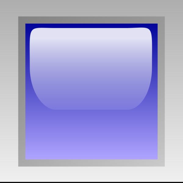 Led Square (blue) PNG Clip art