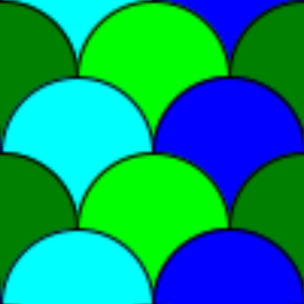 Circles Tile Pattern PNG Clip art