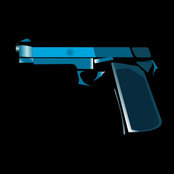 Blue Gun PNG Clip art
