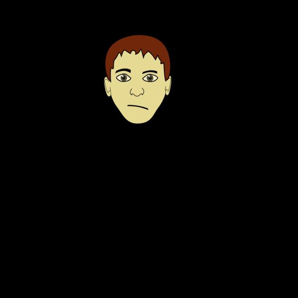 Brown Hair Boy Face PNG Clip art