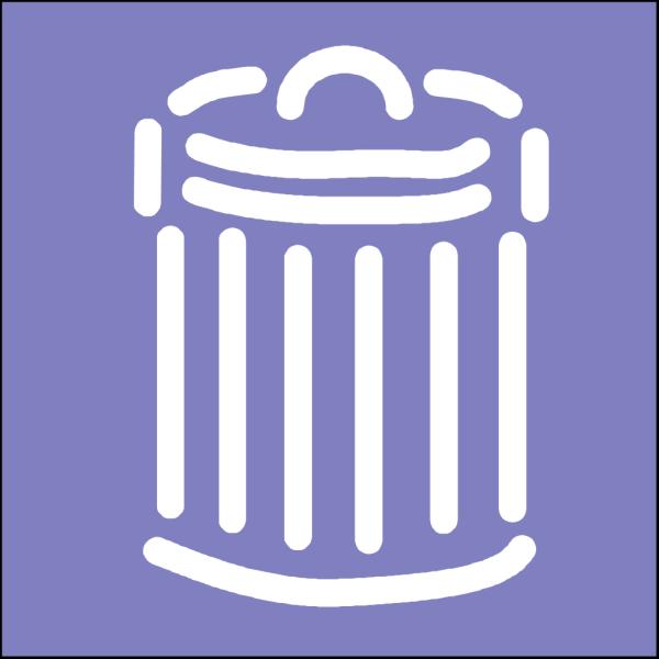Trash Can Symbol Sign PNG Clip art