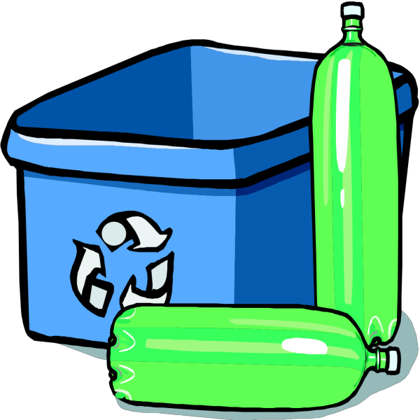 Recycling Bin And Bottles PNG images