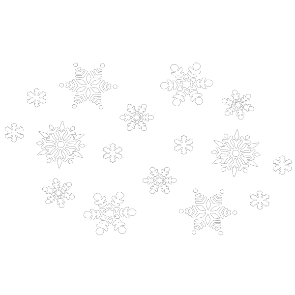 Snowflakes Silhouette PNG Clip art