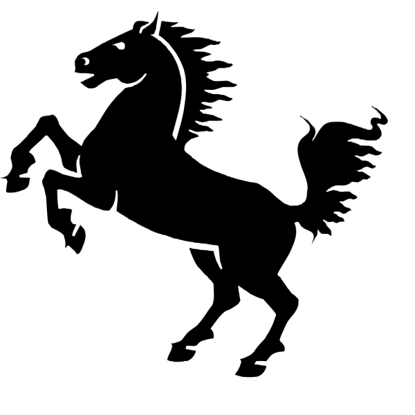 Black Horse PNG Clip art