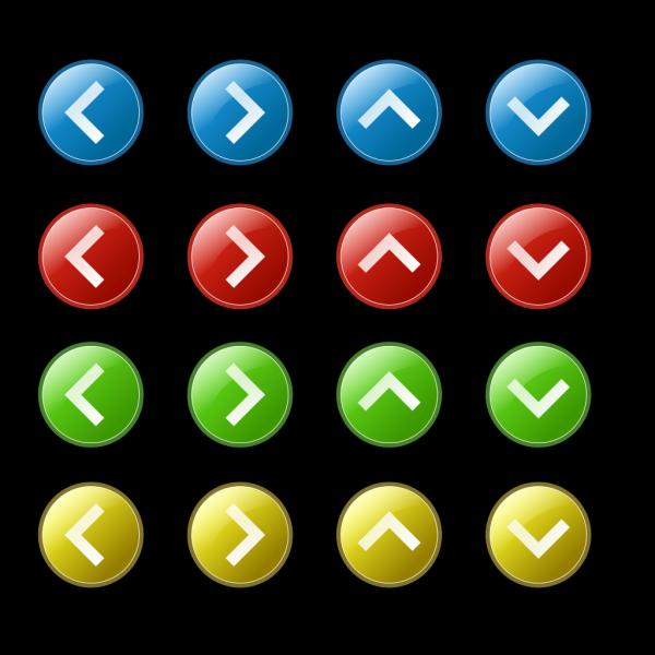 Arrow Button Set PNG Clip art