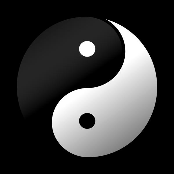 Yin Yang 2 PNG Clip art