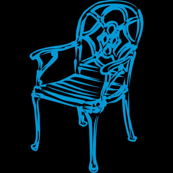 Slim Blue Chair PNG Clip art
