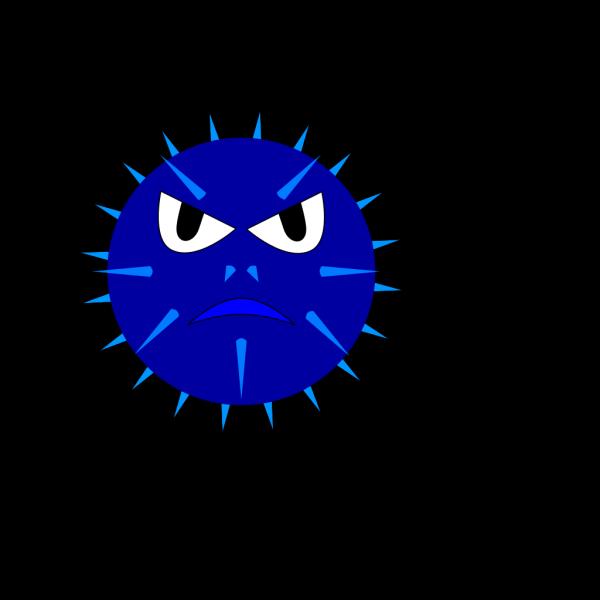 Blue Mine Face PNG Clip art