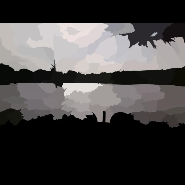 Lakeside Geomertical Pattern PNG Clip art