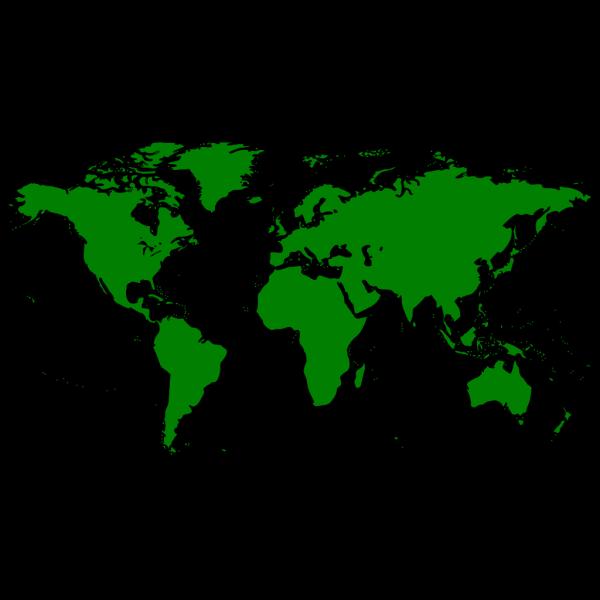 Blue World Map PNG Clip art