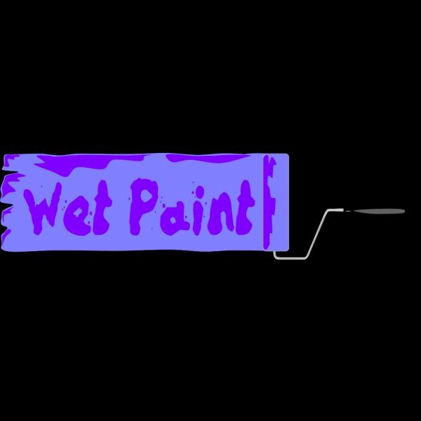 Wet Paint Sign PNG Clip art