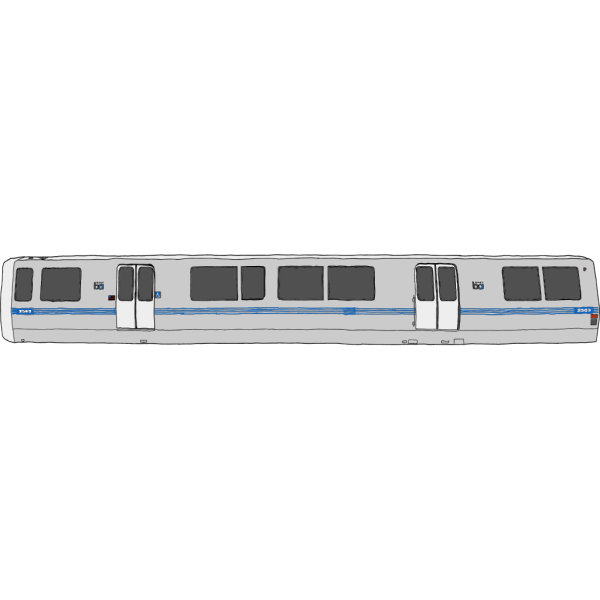 Bart Train Exterior PNG clipart