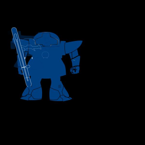Blue Robot PNG clipart