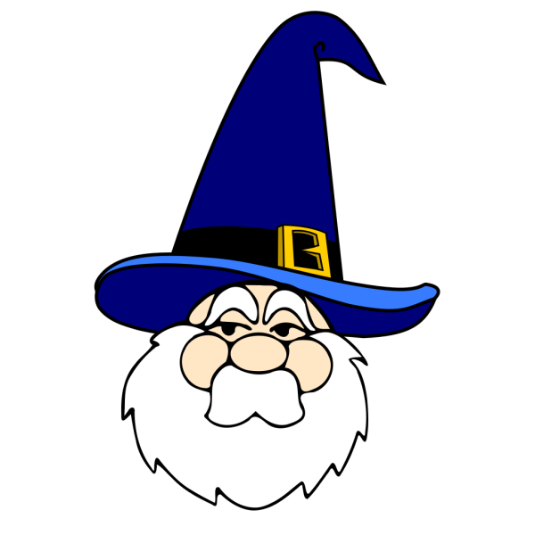 Wizard In Blue Hat PNG images