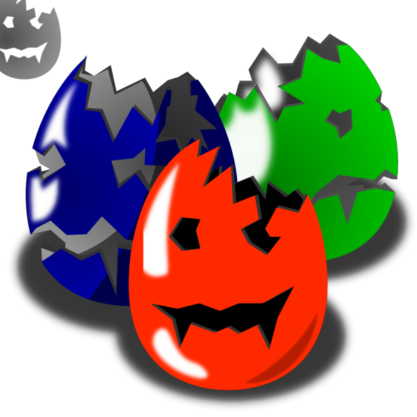 Scary Easter Eggs PNG Clip art