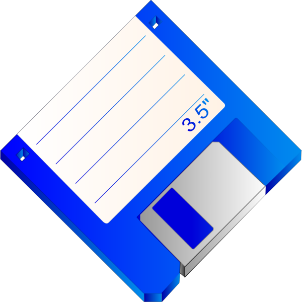 Sabathius Floppy Disk Blue Labelled PNG Clip art