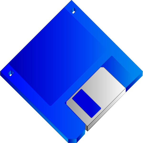Sabathius Floppy Disk Blue No Label PNG Clip art