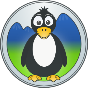 Penguin In The Mountains PNG Clip art