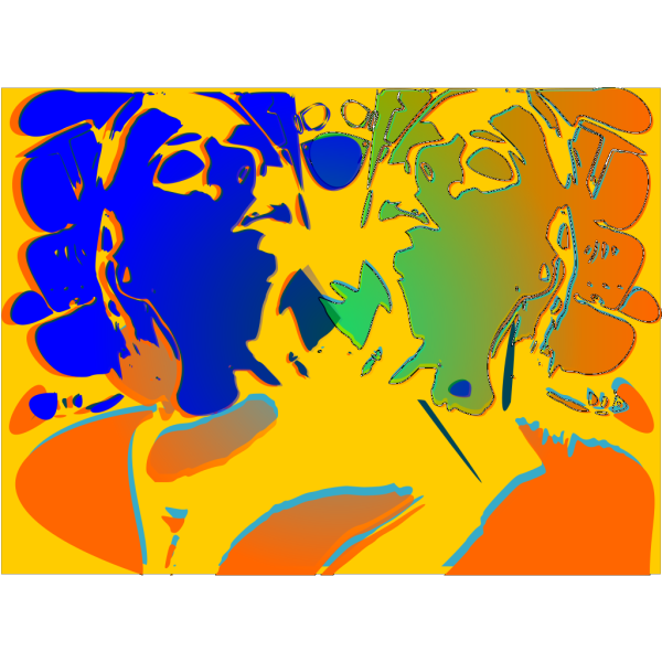 Psychotic Portrait PNG Clip art