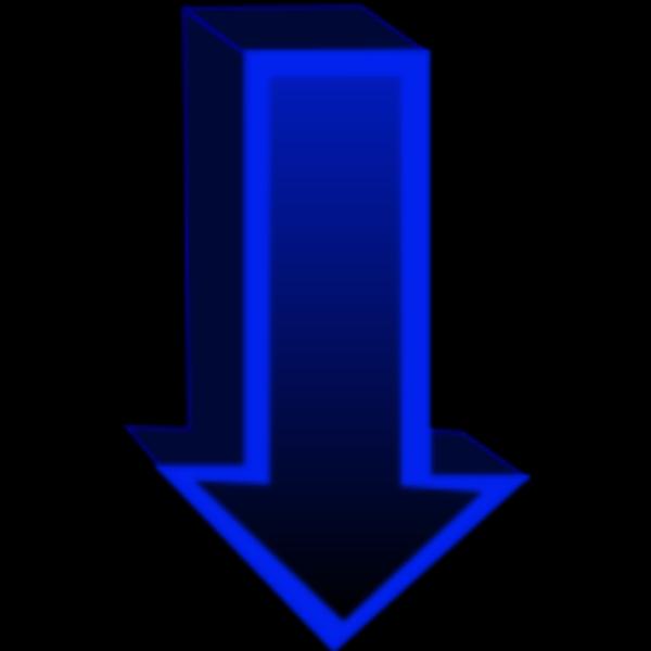 Down Blue Arrow PNG Clip art