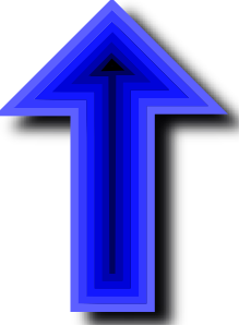 Up Arrow Deep Blue Black PNG Clip art