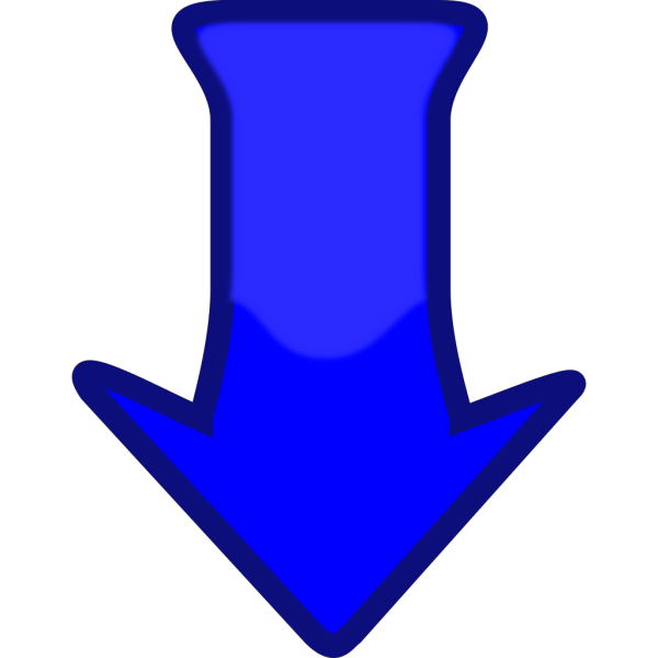 Blue Down Arrow PNG Clip art