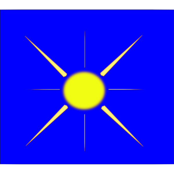 Sun With Blue Sky PNG Clip art