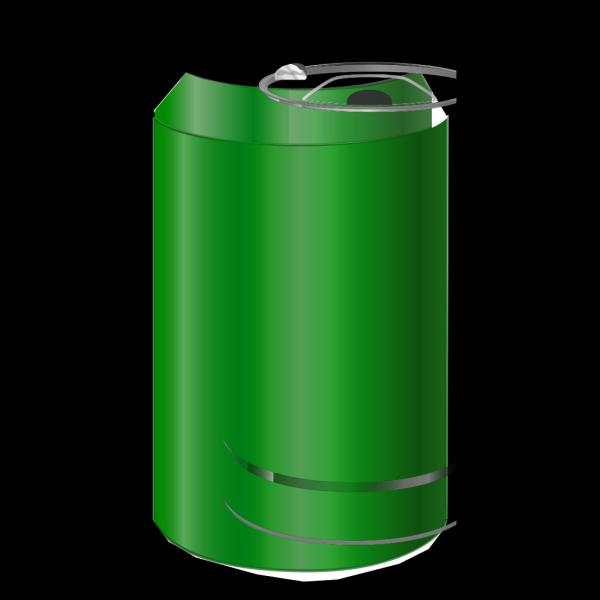 Vectorscape Green Soda Can PNG Clip art