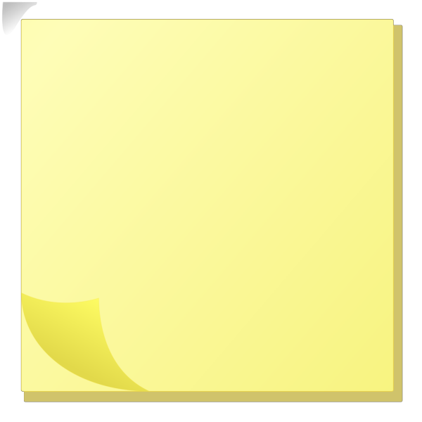 Sticky Note Pad PNG Clip art