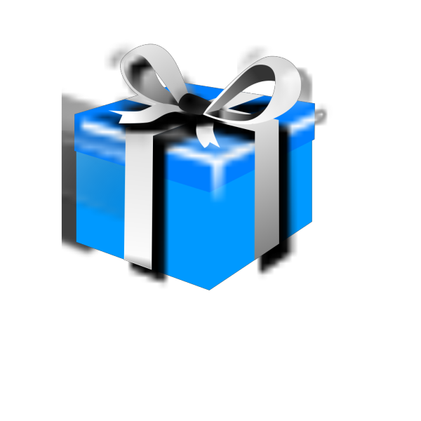 Blue Gift With Golden Ribbon PNG Clip art