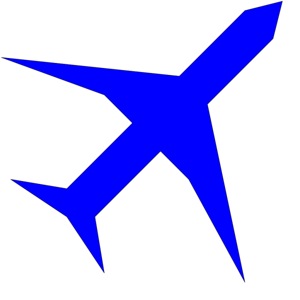 Boing Blue Freight Plane Icon PNG Clip art