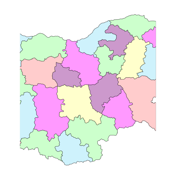 Administrative Map Of Bulgaria PNG Clip art