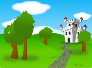 Cartoon Castle PNG icons