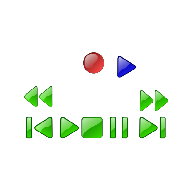 Vcr Dvd Player Buttons PNG Clip art